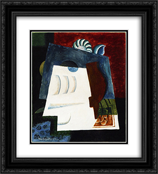 Still LIfe with Envelope 20x22 Black or Gold Ornate Framed and Double Matted Art Print by Louis Marcoussis