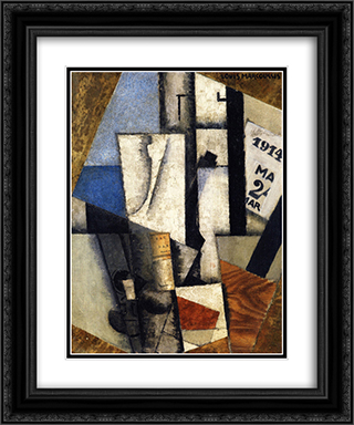 Still Life with Ephemeris 20x24 Black or Gold Ornate Framed and Double Matted Art Print by Louis Marcoussis