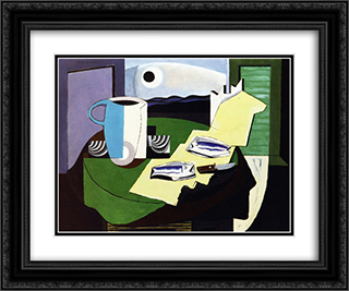 Still LIfe with Fish 24x20 Black or Gold Ornate Framed and Double Matted Art Print by Louis Marcoussis