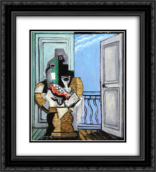Still LIfe with Window 20x22 Black or Gold Ornate Framed and Double Matted Art Print by Louis Marcoussis