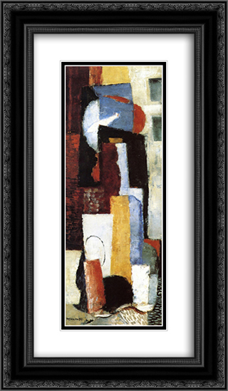 The Red Fish 14x24 Black or Gold Ornate Framed and Double Matted Art Print by Louis Marcoussis
