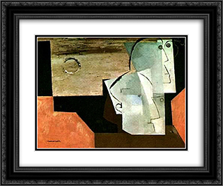 Two Poets 24x20 Black or Gold Ornate Framed and Double Matted Art Print by Louis Marcoussis
