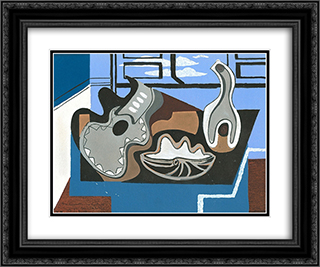 Untitled Still Life 24x20 Black or Gold Ornate Framed and Double Matted Art Print by Louis Marcoussis