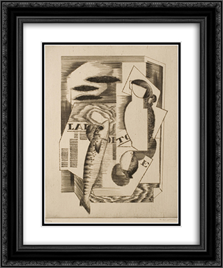 Viareggio (La depeche de Toulouse) 20x24 Black or Gold Ornate Framed and Double Matted Art Print by Louis Marcoussis
