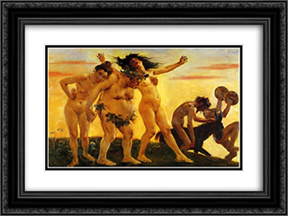Baccants Returning Home 24x18 Black or Gold Ornate Framed and Double Matted Art Print by Lovis Corinth