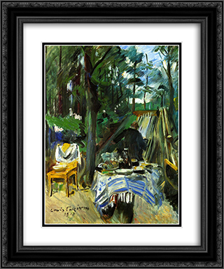 Bowling Alley 20x24 Black or Gold Ornate Framed and Double Matted Art Print by Lovis Corinth