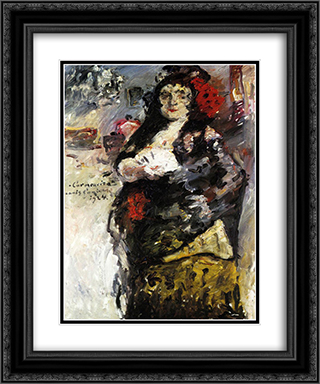 Carmencita 20x24 Black or Gold Ornate Framed and Double Matted Art Print by Lovis Corinth
