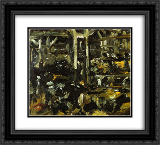 Cowshed 22x20 Black or Gold Ornate Framed and Double Matted Art Print by Lovis Corinth