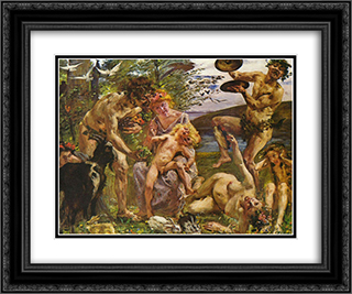 Die Jugend des Zeus 24x20 Black or Gold Ornate Framed and Double Matted Art Print by Lovis Corinth