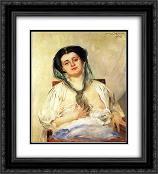 Donna Gravida 20x22 Black or Gold Ornate Framed and Double Matted Art Print by Lovis Corinth