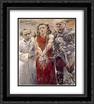 Ecce Homo 20x22 Black or Gold Ornate Framed and Double Matted Art Print by Lovis Corinth