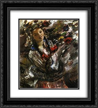 Flora 20x22 Black or Gold Ornate Framed and Double Matted Art Print by Lovis Corinth