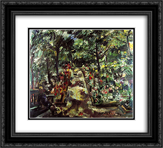 Garden in the West End of Berlin 22x20 Black or Gold Ornate Framed and Double Matted Art Print by Lovis Corinth