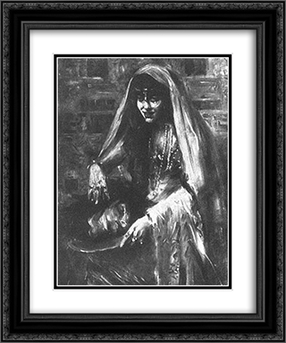 Gertrud Eysoldt as Salome 20x24 Black or Gold Ornate Framed and Double Matted Art Print by Lovis Corinth