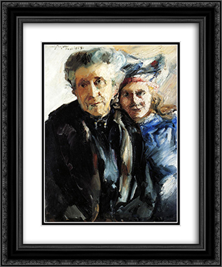 Grandmother and Granddaughter 20x24 Black or Gold Ornate Framed and Double Matted Art Print by Lovis Corinth