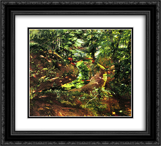In the Woods near Bernried 22x20 Black or Gold Ornate Framed and Double Matted Art Print by Lovis Corinth