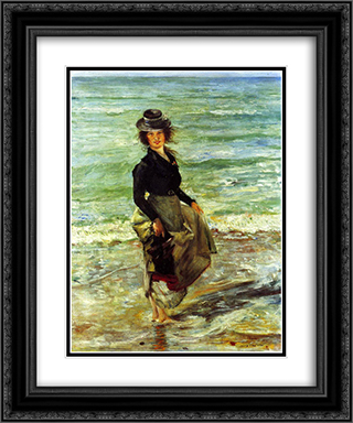 Paddel-Petermannchen 20x24 Black or Gold Ornate Framed and Double Matted Art Print by Lovis Corinth