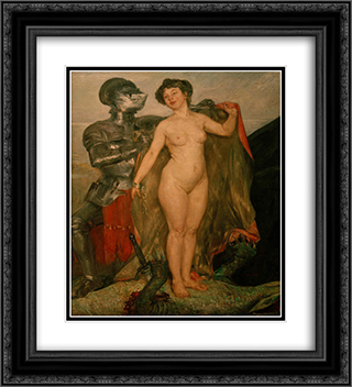 Perseus and Andromeda 20x22 Black or Gold Ornate Framed and Double Matted Art Print by Lovis Corinth