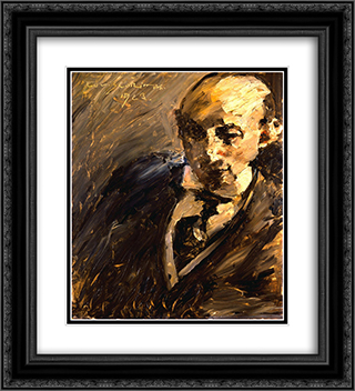 Portrait of Alfred Kuhn 20x22 Black or Gold Ornate Framed and Double Matted Art Print by Lovis Corinth
