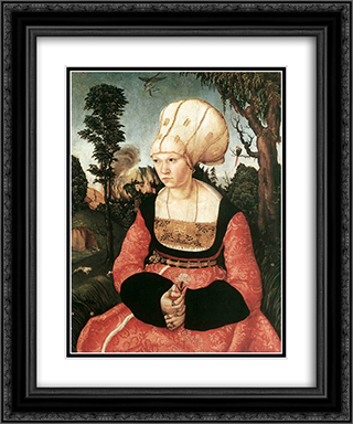 Anna Cuspinian 20x24 Black or Gold Ornate Framed and Double Matted Art Print by Lucas Cranach the Elder