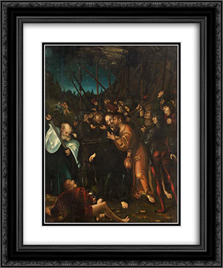 Arrest of Christ 20x24 Black or Gold Ornate Framed and Double Matted Art Print by Lucas Cranach the Elder