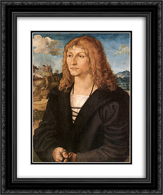 Beardless young man 20x24 Black or Gold Ornate Framed and Double Matted Art Print by Lucas Cranach the Elder