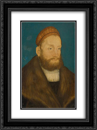Casimir, Margrave of Brandenburg 18x24 Black or Gold Ornate Framed and Double Matted Art Print by Lucas Cranach the Elder