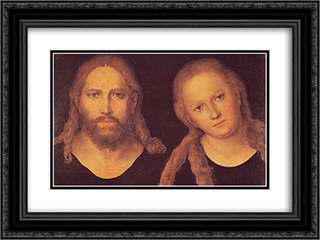 Christ and Mary 24x18 Black or Gold Ornate Framed and Double Matted Art Print by Lucas Cranach the Elder