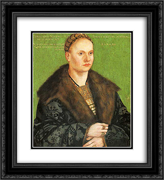 Christoph von Scheurl 20x22 Black or Gold Ornate Framed and Double Matted Art Print by Lucas Cranach the Elder