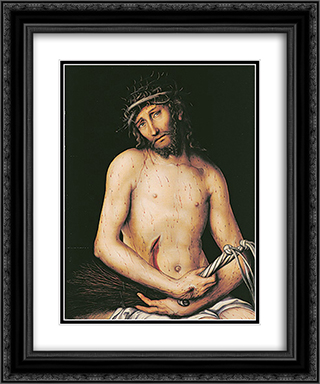 Chtist as the Man of Sorrows 20x24 Black or Gold Ornate Framed and Double Matted Art Print by Lucas Cranach the Elder