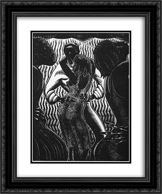 Alec Waugh's Hot Countries 20x24 Black or Gold Ornate Framed and Double Matted Art Print by Lynd Ward