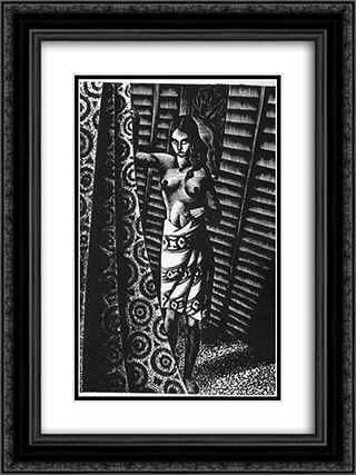 Alec Waugh's Most Women... 18x24 Black or Gold Ornate Framed and Double Matted Art Print by Lynd Ward