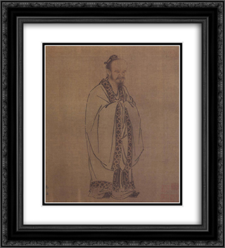 Confucius 20x22 Black or Gold Ornate Framed and Double Matted Art Print by Ma Yuan