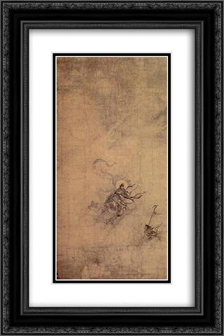 Immortal Riding a Dragon 16x24 Black or Gold Ornate Framed and Double Matted Art Print by Ma Yuan