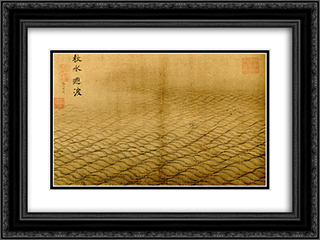 Water Album - The Waving Surface of the Autumn Flood 24x18 Black or Gold Ornate Framed and Double Matted Art Print by Ma Yuan