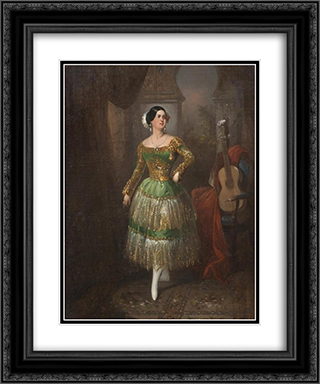 Lady of Sevilla 20x24 Black or Gold Ornate Framed and Double Matted Art Print by Manuel Rodriguez de Guzman