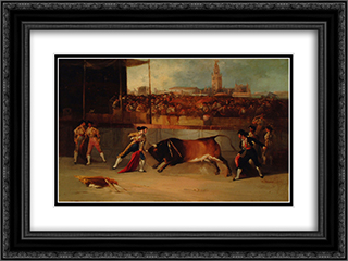 Suerte de recibir 24x18 Black or Gold Ornate Framed and Double Matted Art Print by Manuel Rodriguez de Guzman