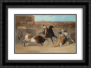 The Picador 24x18 Black or Gold Ornate Framed and Double Matted Art Print by Manuel Rodriguez de Guzman