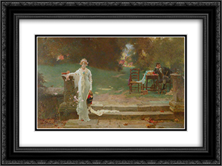 A Passing Cloud 24x18 Black or Gold Ornate Framed and Double Matted Art Print by Marcus Stone