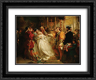 Claudio, Deceived by Don John, Accuses Hero 24x20 Black or Gold Ornate Framed and Double Matted Art Print by Marcus Stone