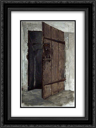 Doorway 18x24 Black or Gold Ornate Framed and Double Matted Art Print by Marcus Stone