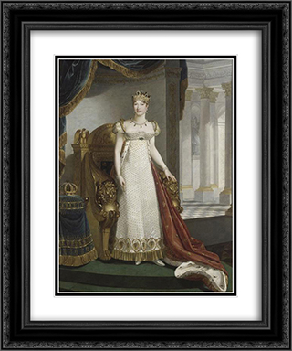 Empress Marie-Louise 20x24 Black or Gold Ornate Framed and Double Matted Art Print by Marie Guillemine Benoist