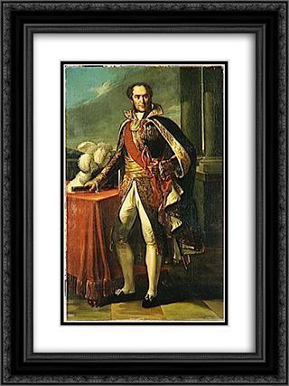 Guillaume Marie-Anne, comte de Brune, marechal de France (1763-1815) 18x24 Black or Gold Ornate Framed and Double Matted Art Print by Marie Guillemine Benoist