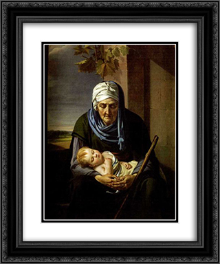 Il sonno dell'infanzia e della vecchiaia 20x24 Black or Gold Ornate Framed and Double Matted Art Print by Marie Guillemine Benoist