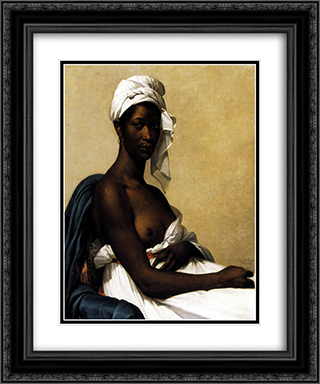 Portrait d'une negresse 20x24 Black or Gold Ornate Framed and Double Matted Art Print by Marie Guillemine Benoist