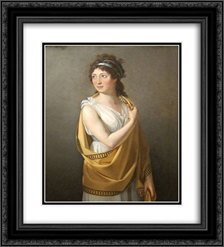 Portrait of a Lady 20x22 Black or Gold Ornate Framed and Double Matted Art Print by Marie Guillemine Benoist