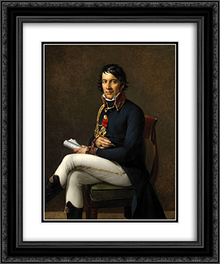 Portrait of Baron Larrey 20x24 Black or Gold Ornate Framed and Double Matted Art Print by Marie Guillemine Benoist