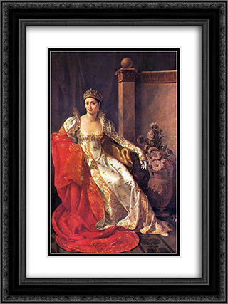 Portrait of Elisa Bonaparte, Grand Duchess of Tuscany 18x24 Black or Gold Ornate Framed and Double Matted Art Print by Marie Guillemine Benoist