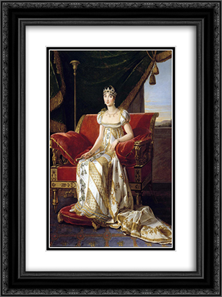 Portrait of Pauline Bonaparte 18x24 Black or Gold Ornate Framed and Double Matted Art Print by Marie Guillemine Benoist