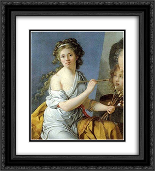 Self-Portrait 20x22 Black or Gold Ornate Framed and Double Matted Art Print by Marie Guillemine Benoist